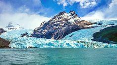 Glaciar Spegazzini, Santa Cruz, Argentina y el lago Argentino.
