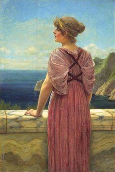 The Athenaeum - Looking Seaward (John William Godward - )