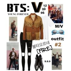 """BTS: V """"Fire"""" Outfit #2"""