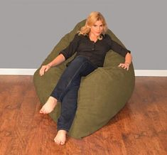 Bay Isle Home Breton Extra Large Bean Bag Chair Fabric: Micro Suede - Camel Bean Bag Lounger, Bean Bag Sofa, Extra Large Bean Bag, Large Bean Bag Chairs, Air Chair, Kids Bean Bags, Dining Room Table Chairs, Comfy Bedroom, Kids Bookcase