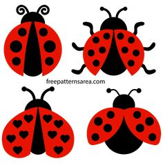 There are vector, graphic, and artistic drawings consisting of various categories in this Patterns and Templates section. Ladybug Art, Ladybug Crafts, Applique Patterns, Applique Quilts, Summer Crafts, Crafts For Kids, Free Vector Files, Free Stencils, Clipart