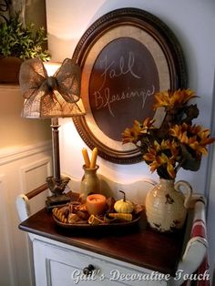 I love the lamp and chalkboard!!