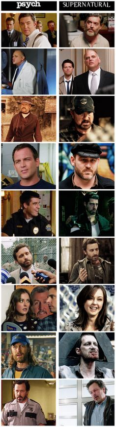I love Psych and Supernatural. If only Jensen, Jared, or Misha would've been on Psych. Oh my Chuck, imagine James and Dule on Supernatural