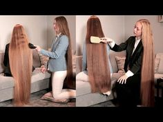Emilie and Sara are two wonderful local RealRapunzels models which we had a big shoot with recently. They both have very long hair and they . Women Haircuts Long, Hair Play, Long Hair Video, Playing With Hair, Longer Hair, Very Long Hair, Brushing, Thick Hair, Hair Videos