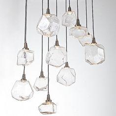 Hammerton Studio Clear Gem Round Multi-Light Pendant Light by Levi Wilson at Lumens.com