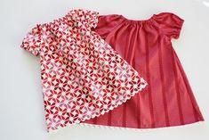 無料型紙 ベビー女の子用かわいいワンピースの作り方   無料ハンドメイド型紙まとめ