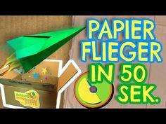 Flieger in 50 Sekunden basteln - Achtung, fertig Bastelkiste 5 - YouTube