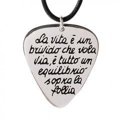 Collana Ink collection gioielli ispirati alle canzoni di Vasco Rossi Ink, Sally, Frases, Pictures, Musica, Infinite, India Ink