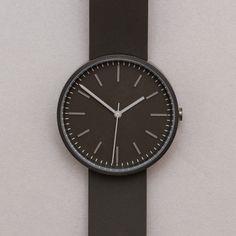 Uniform Wares / 104 Series Wristwatch (Brushed / Orange Rubber) www.oipolloi.com