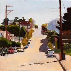 """Carolina Street, Potrero Hill"" oil on canvas 11"" x 11"""