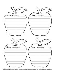 Apple Note Template... Lots Of Free Printable Teacher Templates On This  Site!  Free Printable Templates For Teachers
