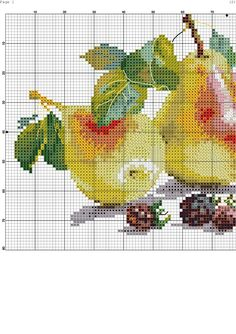 Pears and berries chart