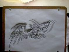 gun and angel