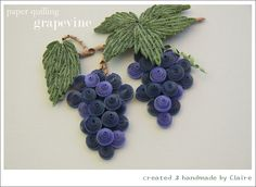 quilled grapes and leaves