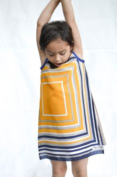 Children's dress size 6 made from vintage scarf /  by HYDROXIDE, $45.00