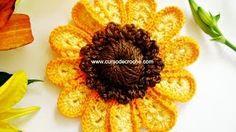 flores a crochet - YouTube
