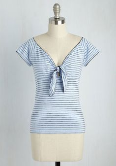 Ascot By Surprise Top in Sky $29.99 AT vintagedancer.com