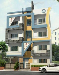 Dawar Siddiqui House Main Gates Design, 3 Storey House Design, Double Storey House, House Front Design, Modern House Design, Modern Houses, Innovative Architecture, Modern Architecture, House Elevation