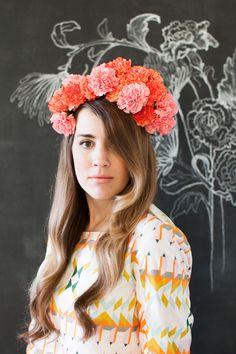 Fresh floral headpieces