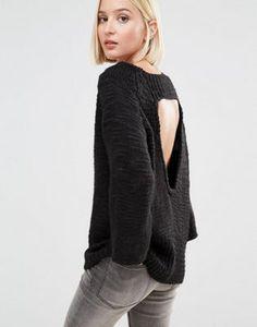 Cheap Monday - Pull tricoté avec dos ouvert