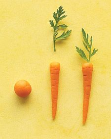 Petite Marzipan Carrots - Martha Stewart Recipes