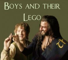 The boys and the leggo images: Richard Armitage and Martin Freeman. Tolkien Books, Jrr Tolkien, Thorin Oakenshield, Kili, Journey 2, Bagginshield, O Hobbit, Desolation Of Smaug, An Unexpected Journey