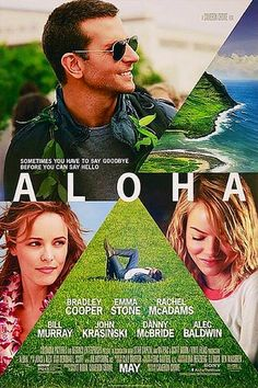 Aloha poster with Bradley Cooper, Rachel McAdams & Emma Stone. So excited for this movie too!