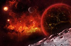 Valcano Planet Of Valtanis III 20$ for creating One Desktop Image #planet #art #space