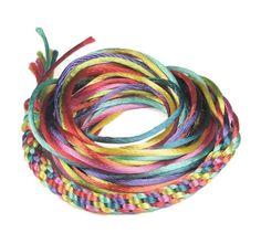 Kumihimo Cord Mix  Rainbow PreCut Kumihimo Cord by LythaStudios, $6.35