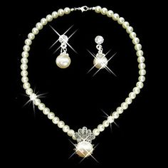 Shining Ivory Pearl Ladies' Jewelry Set Including Necklace and Earrings - USD $ 14.99
