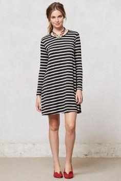 work-at-home dress. Swingstripe Day Dress #anthrofave
