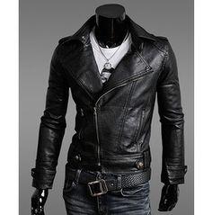 Black Rock Leather Jacket Men Winter