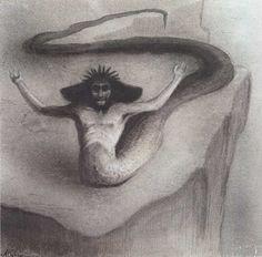Alfred Kubin. Serpent God