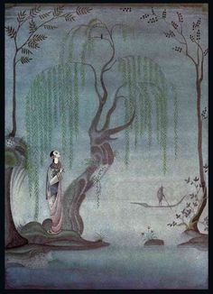 Kay Nielsen -  The Nightingale: At night, I listen to the Nightingale