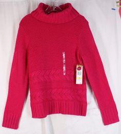 NWT Jones New York Sport Hot Pink Fuschia Cowl Neck Acrylic Wool Sweater M #JonesNewYork #CowlNeck
