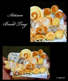Luxury Artisan Bread - Artisan fully Handmade Miniature in 12th scale. From After Dark miniatures.