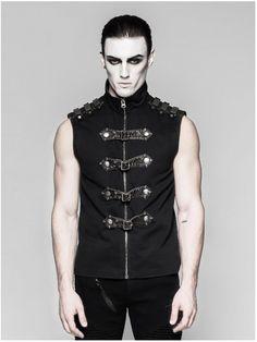 Y-741 Commandant mens vest by PunkRave | Gothic, Steampunk, Metal, Punk, Lolita, Fetish fashion style e-shop. Punk Rave, RQ-BL, Fantasmagoria clothing brands