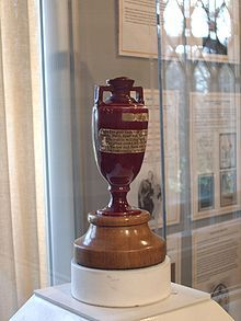 The Ashes....that famous cricket trophy which has been fought over between England and Australia since 1882...130 years this year...wow !!