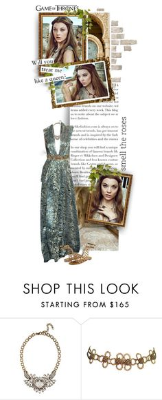 """""""Margaery Tyrell - Game of Thrones"""" by inlovewithabook ❤ liked on Polyvore featuring Naeem Khan, J.Crew and Roberto Cavalli"""
