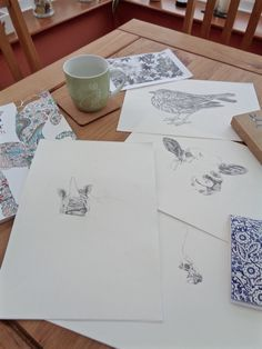Selection of sketches for greetings cards and prints. #greetingscards #art #animalart