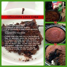 Chocolate Lava Cake in Rock Crock Lava Cake Recipes, Rock Recipes, Lava Cakes, Dessert Recipes, Dessert Ideas, Pampered Chef Lava Cake Recipe, Pampered Chef Desserts, Rockcrok Recipes, Tastefully Simple Recipes