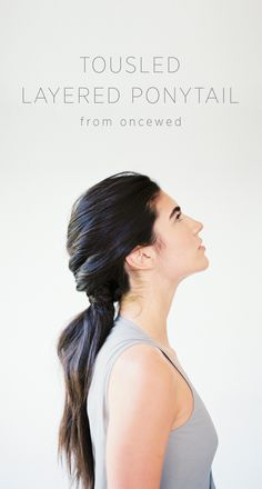 DIY Tousled Layered Ponytail Wedding Hair Tutorial. #diyweddinghairstylesforlonghair #bridalinspiration #diyweddingtutorials  #bridalplanning