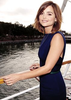my favorites - Jenna Louise Coleman - TV Guide Magazine Yacht Party Photoshoot Hairstyles Haircuts, Pretty Hairstyles, Hairstyle Short, Hairstyle Ideas, Jenna Coleman Haircut, Jenna Coleman Hair Short, Jenna Coleman Style, Medium Hair Styles, Women Short Hair