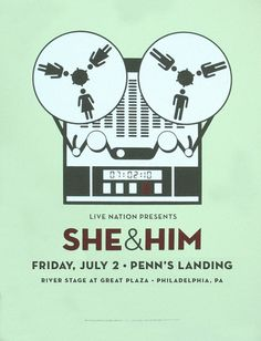 awesome indie band posters | Kick start my rock & roll heart. she & him