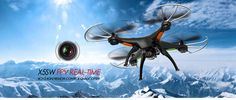 This item is located in the UK, we ship to the UK only, buyers from the UK can get it in a few days! Syma X5SW WIFI Real Time FPV RC Quadcopter 2MP Camera Syma X5SW Features: X5SW RC Drone Built-In WiFi Camera and Electronic Compass, WIFI real time transmission for videos and photos between ...