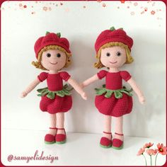 Domates Güzeli 💕 Tüm bölümleri Tomato Girl Amigurumi Toys, Amigurumi Patterns, Crochet Dolls, Crochet Baby, Easy Crochet Patterns, Crochet Animals, Beautiful Dolls, Doll Toys, Teddy Bear