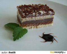 Z mlieka, pudingového prášku a cukru uvaríme hustý čokoládový puding. Do menšieho plechu naukladáme najprv vanilkové a potom čokoládové sušienky,...