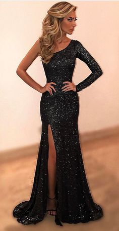 Cheap prom dresses,Black Evening Dresses,One Shoulder Beads and #prom #promdress #dress #eveningdress #evening #fashion #love #shopping #art #dress #women #mermaid #SEXY #SexyGirl #PromDresses