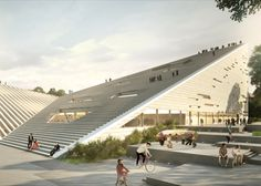 Snøhetta and SANAA share first place in Budapest museum contest