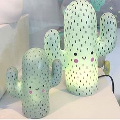 Set of Succulent Planter Sisters – Room Decoration İdeas – Cactus Deco Pastel, Pastel Mint, My New Room, My Room, Room Set, Lampe Cactus, Cactus Bedroom, Girls Bedroom, Bedroom Decor